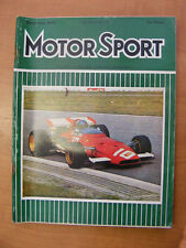 Motor Sport Magazine F1 Sports Road & Historic Cars Issue September 1970 Classic