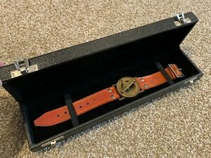 Sundial & Compass Leather Banded Watch Set w/ Case - Buddha 4 All - RARE Lot!