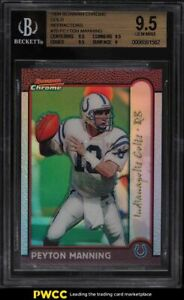 1999 Bowman Chrome Gold Refractor Peyton Manning /25 #70 BGS 9.5 GEM MINT