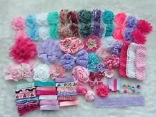 Deluxe DIY kits,Baby Shower Station,Headband,shabby flowers Party Supply,Xms H