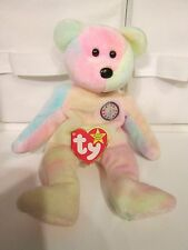 Ty Beanie Baby Birthday Bear The Beanie Babies Collection ~ Multi-color Pastel