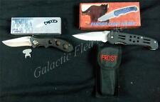 Frost Cutlery Panther Creek and Cheyenne Skinner Locking Folding Knife Set *New*