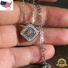 Внешний вид - Gorgeous 925 Silver Necklace Pendant Women White Sapphire Wedding Jewlery Gift