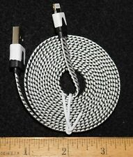 White/Black Braided 6FT Charging Cable for IPhone 5, 5S, 6, or 6+...Buy It Now