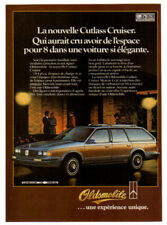 1984 OLDSMOBILE Cutlass Cruiser Vintage Original SMALL Print AD Woodie car Frenc