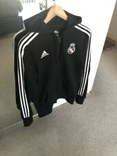 Adidas Real Madrid Zipped Hoodie Jacket Black Small (RRP £64.95)