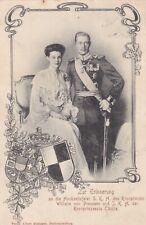AK Hochzeit Kronprinz Wilhelm von Preussen Kronprinzessin Cäcilie WITTSTOCK D.