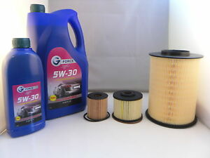 Ford Grand C-Max 2.0 TDCI Diesel Service Kit Oil Air Fuel Filter 5w30 Oil 10 On