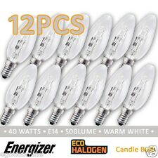 Energizer Candle Bulb ECO Halogen Dimmable E14 Energy Saving 33w/40w 12Pcs