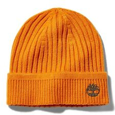TIMBERLAND RIBBED KNIT BEANIE FOR MEN ORANGE