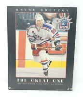 Wayne Gretzky The Great One NYR New York Rangers Wall Plaque