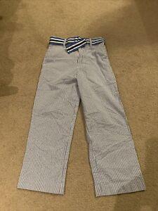 Izod Blue Seersucker Pants Size 5 New