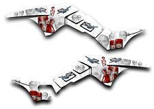 HONDA TRX250R GRAPHICS DECAL KIT AMERICAN HERO TRX 250 R STICKER PINUP WHITE