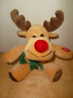 Plush Singing Christmas Reindeer Plush Stuffed Animal