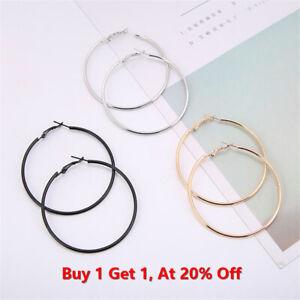 New Pair Of Big Hoop Earrings Huge Large Round Hoops Chic Earrings UK Seller