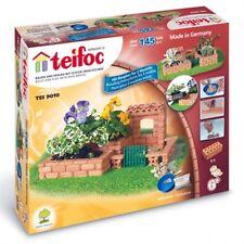 Teifoc Small Garden Construction Set Real Brick & Mortar Building Toy TEI 9010