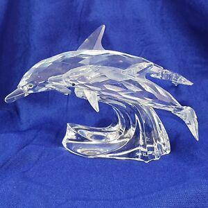 Swarovski Crystal Lead Me The Dolphins Annual Edition 1990 Michael Stamey 153850
