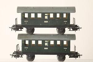 Märklin H0 327/1 Two Sheet Metal Car Passenger Train Perron (187792)