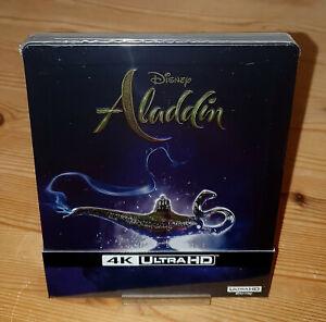 Aladdin 4K UHD Steelbook +2D Blu-ray NEU & OVP Limited Edition dt. Ton geprägt