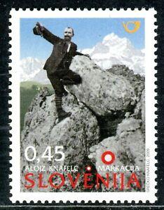 703 - SLOVENIA 2009 - Alojz Knafelc - Slovene Cartographer - MNH Set