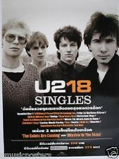 "U2 ""18 Singles"" Thailand Promo Poster-Young Band Shot, Printed In English & Thai"