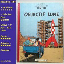 Tintin, 15, Objectif Lune, Hergé, Casterman, R, B10, 1954, EF, C