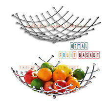 métal chromé fruit panier bol gigognes cuisine repas table décoration stockage