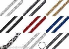 1m Schlauchkette Zierkette Schmuckkette basteln flexibel formbar 3mm Zierband