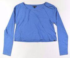 Vans CEDAR Womens Cotton Blend Long Sleeve T-Shirt Medium Sapphire Blue NEW