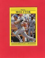 1991 Fleer baseball #591  PAUL MOLITOR  Milwaukee Brewers Hall of Fame