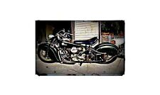 1946 Indian Chief Bike Motorcycle A4 Retro Metal Sign Aluminium