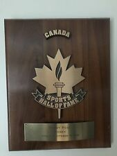 Bobby Hull's Canada Sports Hall Of Fame Plaque-1988