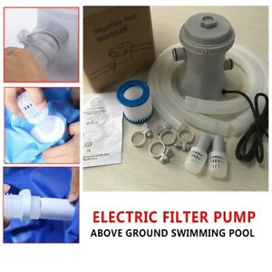 For Above Ground Pools Cleaning Tool Electric Swimming Pool Filter Pump EU Plug