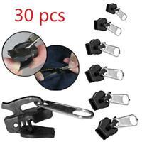 Removable 30Pcs Zipper Zip Slider Rescue Instant Repair Kit Replacement Set BE