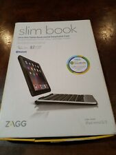 ZAGG Slim Book Ultrathin Case, Hinged with Detachable Bluetooth Keyboard for 2/3