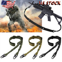 Tactical 2 Point Gun Sling Shoulder Strap Outdoor Rifle QD Metal Buckle Gun Belt