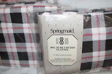 Springmaid PLAID Double Flannel Sheet Set 100% Cotton NIP vintage