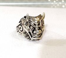 Sterling Silver 925 Handcrafted Japanese Samurai Free size adjustable Super Nice
