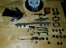 Mezco One 12 Px Punisher Accessory Lot Shotgun Revolver Red Vest Harness Weapons