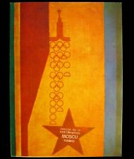 Poster Original USSR Soviet Russia Olympics Games Moscow 1980 Emblem Red Star