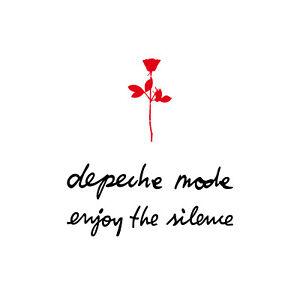 6cm Rose + 13cm depeche mode & enjoy the silence Auto Aufkleber Tattoo Dekofolie
