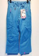 Roxy Junior Girl Band Insulated Snowboard Ski Winter Pants Sky Blue Girls 10 NEW