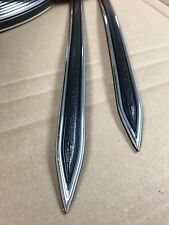 "Vintage type 5/8 "" Black with Chrome body side molding formed pointed ends"