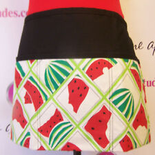 Unisex Grilling Flirty waiter waitress Apron with 3 Pockets Watermelons large