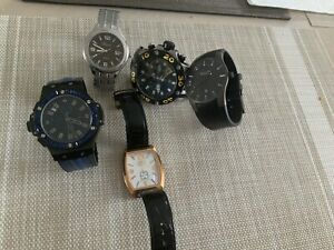 Watch Lot Mens Pre-Owned Lot Of 5