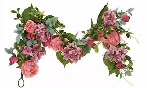 Spring Blooms Valerie Parr Hill 4' Pink Hydrangea Peony & Tulip Garland