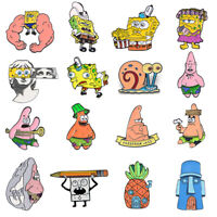 SpongeBob SquarePants Series Enamel Pins Cartoon Badge Brooch Gifts Collectible