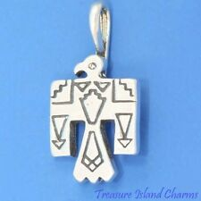 THUNDERBIRD NATIVE AMERICAN INDIAN BIRD .925 Solid Sterling Silver Charm Pendant