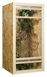 Holz Hochterrarium 60 x 60 x 120 cm OSB Platte, Frontbelüftung Terrarium