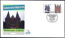 BRD 1997: Weimar und Lübeck! FIDACOS-FDC Nr. 1934+1938 mit Bonner Stempel! 1808